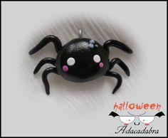 Kawaii Spider Charm - Handmade Polymer Clay