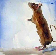 rat painting | Happy Year of the Rat -- edith dora rey