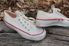 vintage 1970s AMERICAN canvas low top sneakers by mad4modvintage, $38.00