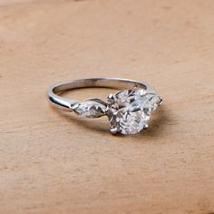 Antique Diamond Filigree Ring with Old European Cut Diamond Engagement Ring.