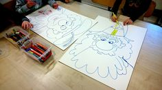 Mooie Sinterklaastekening maken bij kinderdagverblijf Drakesteyn