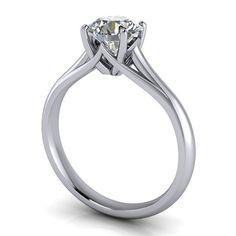 Solitaire Moissanite Engagement Ring - Giselle anillos de compromiso | alianzas de boda | anillos de compromiso baratos http://amzn.to/297uk4t