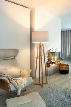 Tripod Lamp, Lighting, Home Decor, Ficus Elastica, Natural Colors, Types Of Wood, Asylum, Light Fixtures, Decoration Home