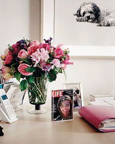"""Lee Radziwill answers the question I have always asked myself which is """"Where, exactly, should one put one's Life magazine cover?"""" On your desk, naturally. Framed in the hallway would be too show-offy and tacky."""