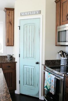 love the color of this pantry door.