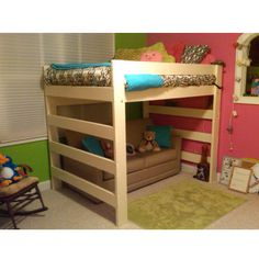 The Premier Solid Wood Loft Bed 1000 Lbs Wt. Capacity Twin Size With Youth…