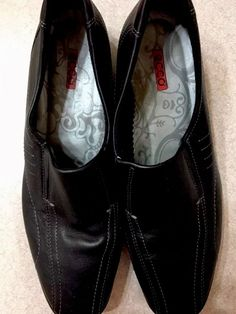 566f1d439ab Ecco Loafer Shoes size US 10-10.5 EUR 41 Womens Black Slip on Comfort  Leather