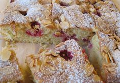 A raspberry and almond cake that combines the subtle almond taste with the vibrance of raspberry giving a desert or cake that disappears in no time. Raspberry And Almond Cake, Creaming Method, Baking Parchment, Cake Mixture, Ground Almonds, Almond Cakes, Creme Fraiche, Sweet Bread, Cake Recipes
