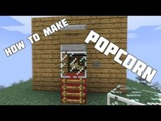 How to Make a Popcorn Machine in Minecraft! [Minecraft Furniture Series] - YouTube