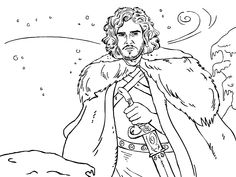 58 Best Game of Thrones Coloring Pages for Adults images