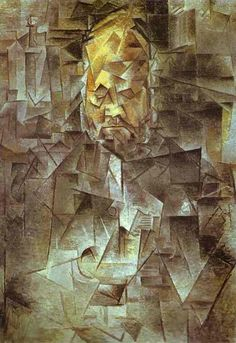 "Pablo Picasso  ""Retrato de Ambroise Vollard"" 1910 (Cubismo Hermético)"