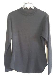 90s Nicole Miller Sport Stretch Wool Knit Top Black Shirts Jersey Wool Womens Vintage Fashion Designer Hipster Minniamalist Gypsy Boho Gypsy