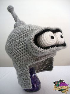 Crocheted Bender Hat by melibusla on deviantART