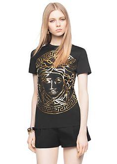 Versace Medusa Head Embossed T shirt