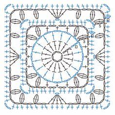 Квадратные мотивы с цветами. Часть 2.. Обсуждение на LiveInternet - Российский Сервис Онлайн-Дневников
