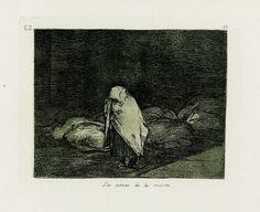 Francisco de Goya - Las camas de la muerte. Los Desastres de la Guerra nº 62