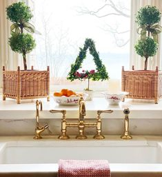 Sweet Shady Lane (@sweetshadylane) • Instagram photos and videos Christmas Greenery, Christmas Decorations, Table Decorations, Wicker Planter, Planters, Boxwood Tree, Christmas Bowl, Christmas Ideas, Glass Magnets