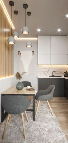 ДИЗАЙН СТУДИЯ А+Б's photos - Кухни Kitchen Room Design, Home Room Design, Modern Kitchen Design, Home Decor Kitchen, Interior Design Kitchen, House Design, Small Apartment Interior, Apartment Design, Room Decor