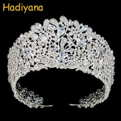 Bavoen Top Quality Royal Queen Brides Tiaras Crowns Headpieces Oversize Silver Bridal Hairbands Wedding Hair Accessories Gift-in Hair Jewelry from Jewelry & Accessories on AliExpress Headpiece Jewelry, Hair Jewelry, Wedding Jewelry, Wedding Hair, Bride Tiara, Princess Crowns, Pink Princess, Princess Party, Disney Princess