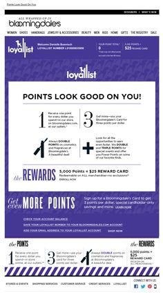 Bloomingdale's loyalist welcome series email 2013
