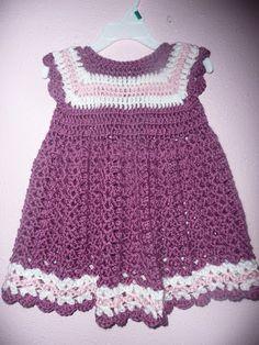 craftastica: crochet toddler dress