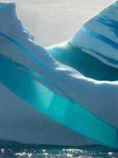Striped Icebergs in Antarctica