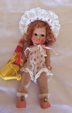 "VOGUE GINNY DOLL, RARE, Strung, Hard plastic ""JULIE"" 1951 SO CUTE! and MINT!"