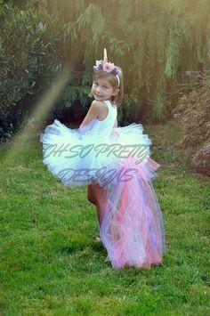 Items similar to Kid/Adult Unicorn Tutu & Headband on Etsy Unicorn Halloween Costume, Halloween 2017, Holidays Halloween, Dyi Costume, Halloween Costumes, Infant Halloween, Unicorn Birthday, Unicorn Party, Unicorn Mom