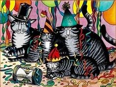 Party Cats by B. Kliban