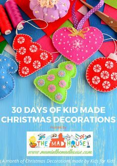 am delighted to be sharing with you a 30 days of fantastic Christmas decorations all made by children, along with full instructions for making them with your own children.