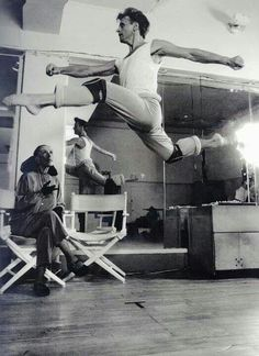 Mikhail Baryshnikov ...rehearsal...with Martha Graham
