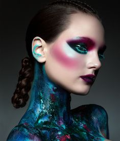 Fashion Editorial Makeup, High Fashion Makeup, Male Makeup, Makeup Art, Body Art Photography, Beauty Shoot, Crazy Makeup, Photo Makeup, Fantasy Makeup