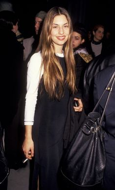 """little-trouble-grrrl: """" Sofia Coppola at a party for The Who's Tommy in 1993 """" Charlotte Rampling, Alexa Chung, Twiggy, Sofia Coppola Style, 90s Fashion, Vintage Fashion, Style Année 90, Divas, Women Smoking"""
