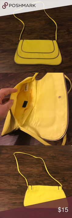 Yellow Bag with silver piping Cute bag for a night out! H&M Bags Shoulder Bags