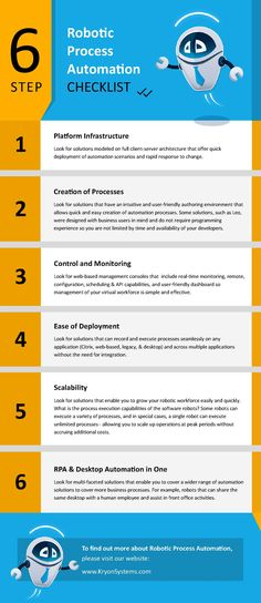 RPA Checklist: Essential Criteria for Choosing the Best Robotic Process Automation Solution [Infographic] Robotic Automation, Process Improvement, Business Requirements, Digital Strategy, Digital Technology, Machine Learning, Computer Science, Online Business, Infographic