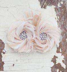 Bridal Hair Accessory Blush Pink  Fascinator by FancieStrands, $85.00