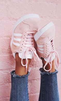 These pink sneaks though!! || Blush Gazelle Adidas from Pacsun