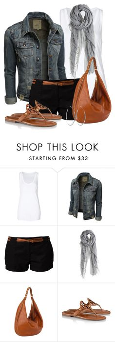 Denim Jacket & Shorts by wishlist123 on Polyvore featuring Helmut Lang, Vero Moda, Tory Burch, Rebecca Minkoff, Sheila Fajl and Chan Luu