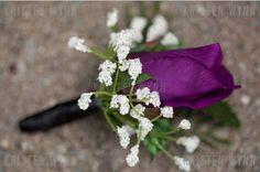 Elegant Fall Garden Modern Spring Vineyard Purple White Boutonniere Wedding Flowers Photos & Pictures - WeddingWire.com