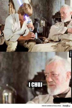 Jedi. Star Wars Meme, Star Wars Film, Wtf Funny, Funny Memes, Polish Memes, Aesthetic Memes, Meme Lord, Love Stars, Good Jokes