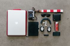 SUBMISSION: les Avignons Essentials Joris RigerlMacbook Pro 15Freiwild Sleeve 15Fuji X100SLeuchtturm Dot Grid NotebookKaweco Liliput Fountain PenRayBan New WayfarerBowers  Wilkins P5Apple 30pin USB ConnectorAuntsUncles WalletRed Bull Red EditionApple iPhone