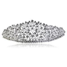 PIXNOR Wedding Bridal Hair Tiara Princess Crystal Crown Veil Headband Diamond Hair Pin * Read more reviews of the product by visiting the link on the image.