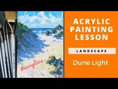 Want to paint in acrylics? This lesson will help you paint a light filled beach scene. Plus tips on paint in layers. Watch the full demo here. Acrylic Painting Lessons, Acrylic Painting For Beginners, Acrylic Paintings, How To Start Painting, Learn To Paint, Popular Paintings, Your Paintings, Dune, Rembrandt Portrait