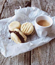Condensed Milk Mocha Fudge Sandwich Cookies