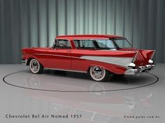 1957 Chevrolet Bel Air Nomad. Well we had one of these Bel Air Nomad automobiles it was fantastic sporty and fast. Ted the Desert man.