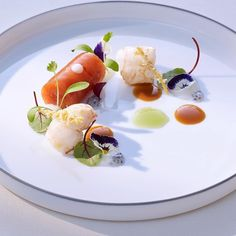 Tomato jelly with langoustine & basil by @thomasbuehner Tag your best plating pictures with #armyofchefs to get featured. #plating #chefs