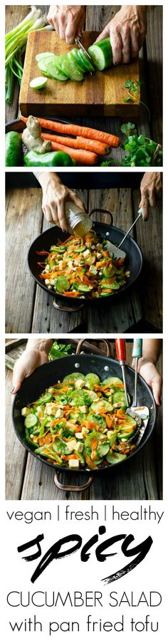 cucumber salad with pan fried tofu spicy cucumber salad with pan fried ...