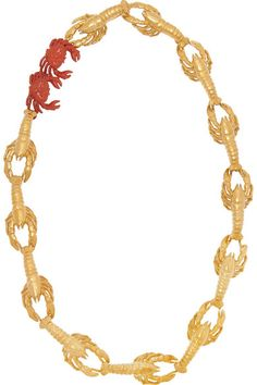 So this is a crab necklace (for more sea-fashion --> http://chicityfashion.com/fish-prints/)