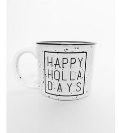 Happy Holidays mug campfire coffee cup