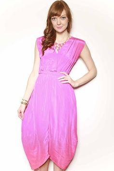 CHARLIE JADE Hot Pink Midi Dress // $220